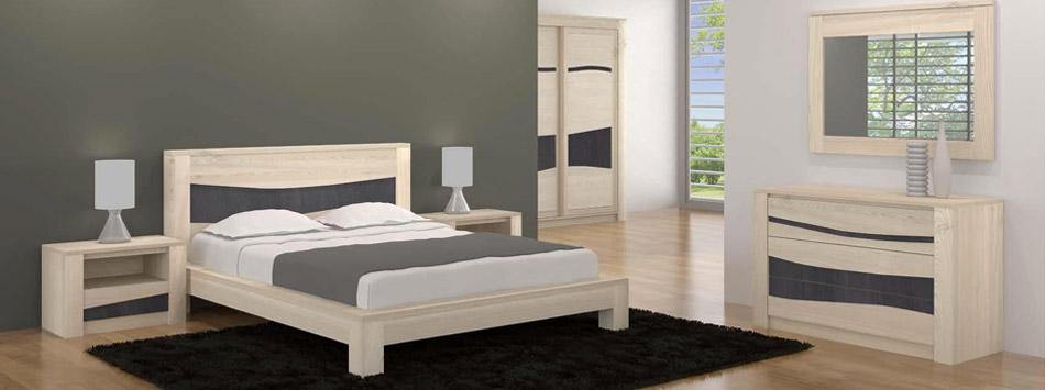 Chambre à coucher en bois et rangements - Meubles Bois Massif