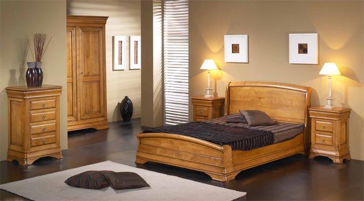 chambre classique topaze en merisier massif meubles bois. Black Bedroom Furniture Sets. Home Design Ideas